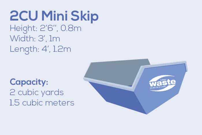 Leicester Mini 2Cu Yard Skip Hire