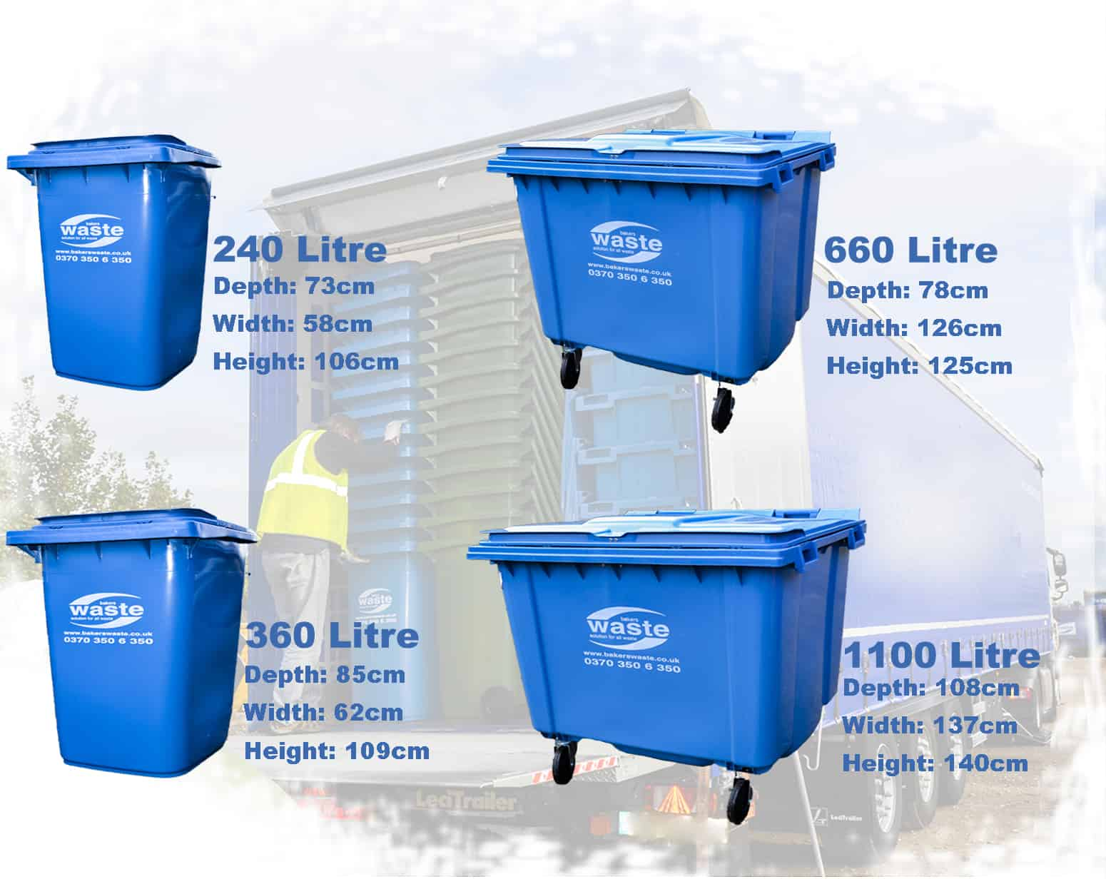 Commercial Trash Bin Sizes : Wheelie bin hire collection leicester northampton