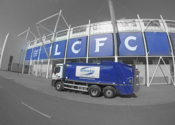 Commercial Waste Truck In Front Of The King Power Stadium