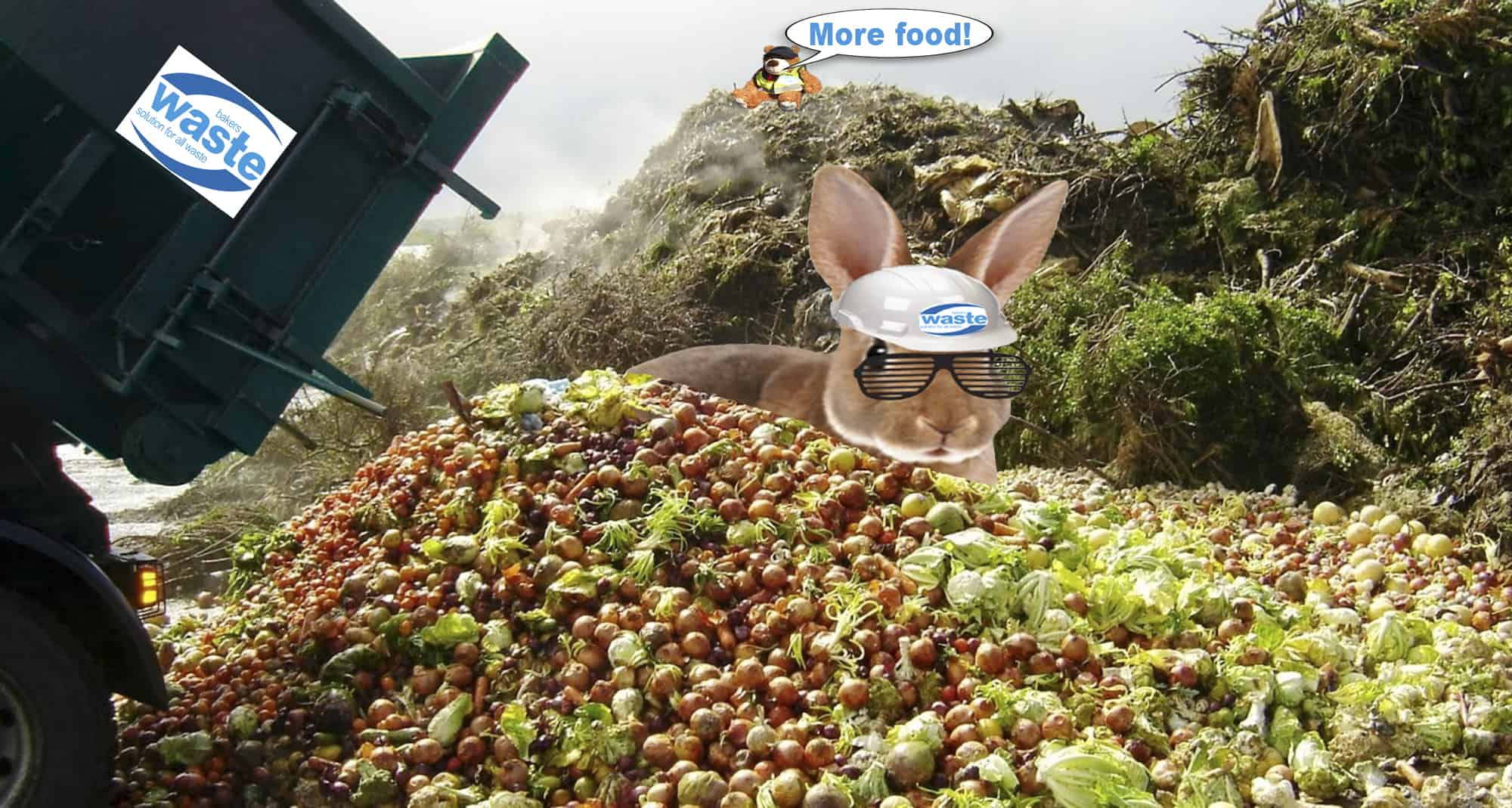Food waste can be recycled in order to improve the environment