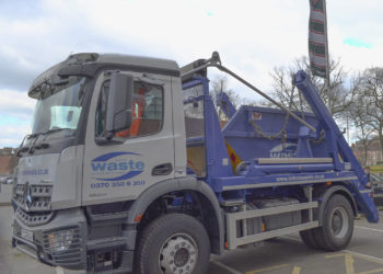Skip Truck With Tigers Flag Web