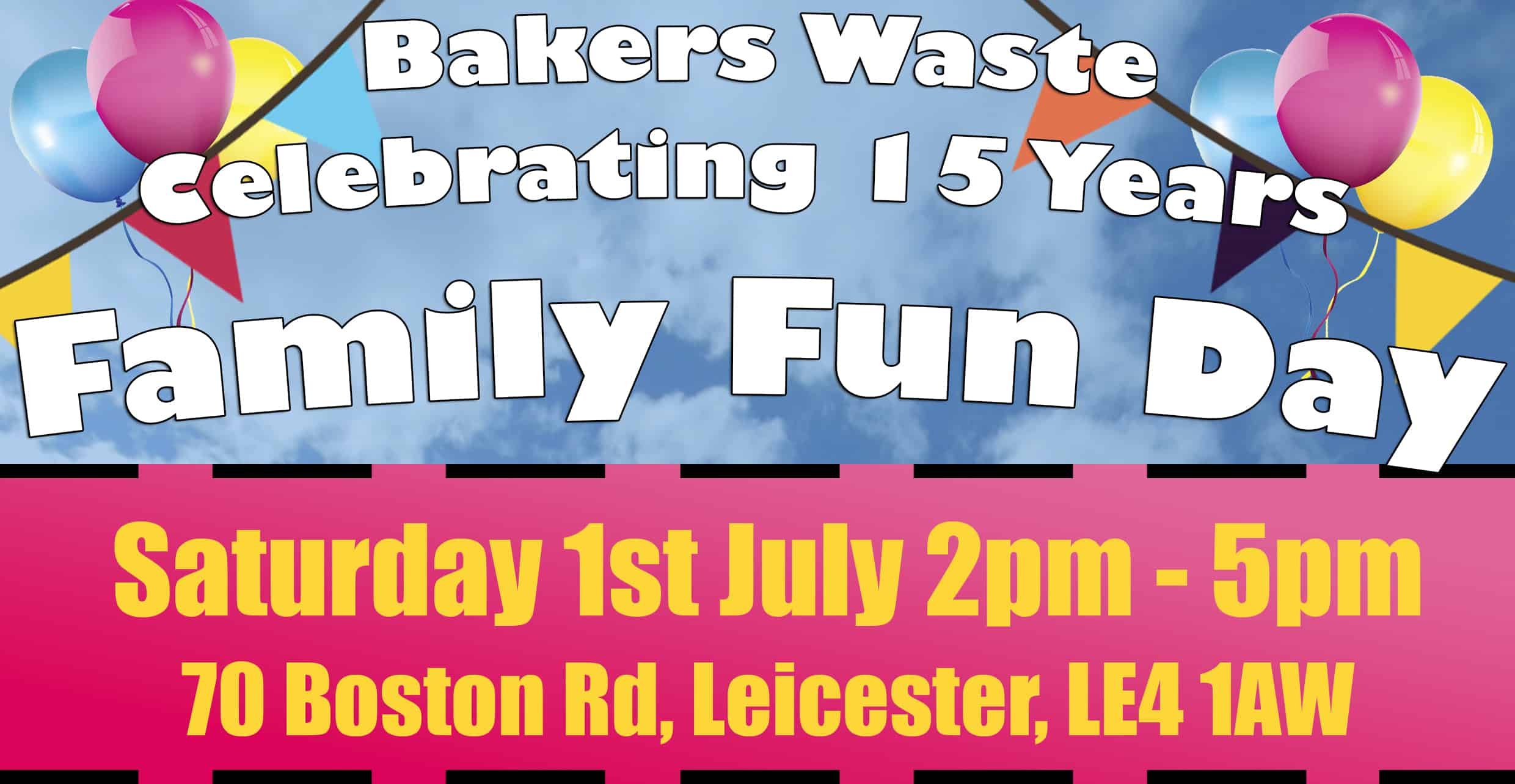 Bakers Waste 15 Year Anniversary Family Fun Day