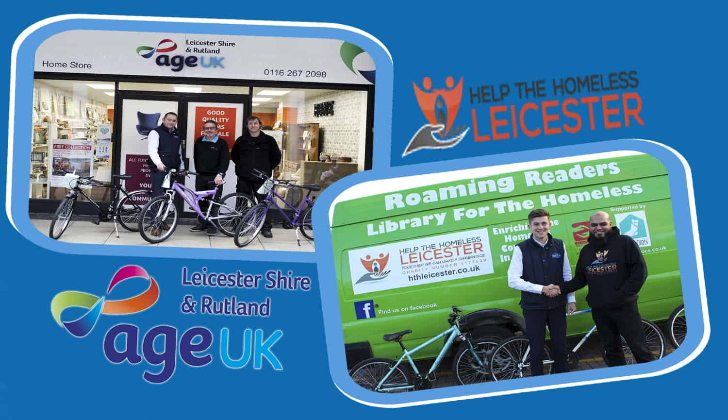 Stocken Prison Bike Donation To Age UK & Help The Homeless Leicester