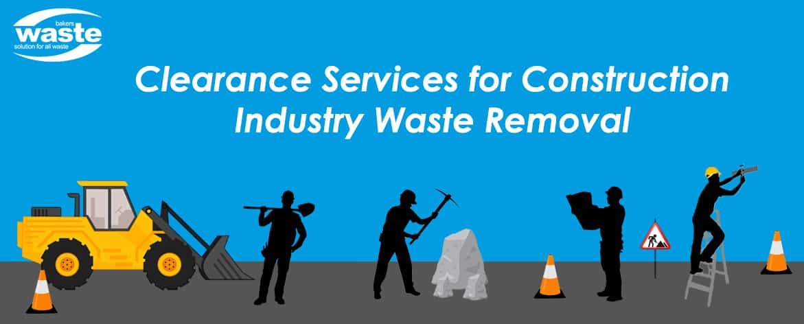 construction industry waste removal graphic