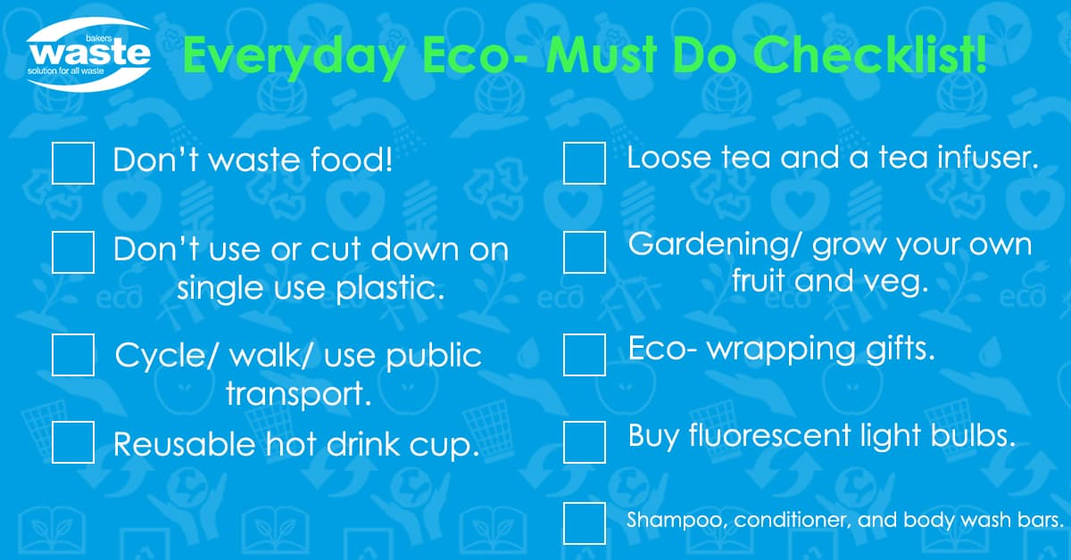 Everyday Eco- Must Do Checklist