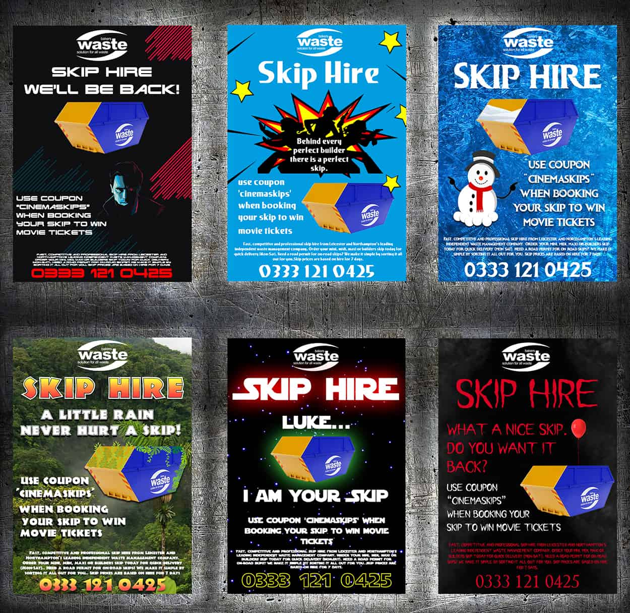 THIS WINTER: Win Movie Tickets – Skip Hire Competition