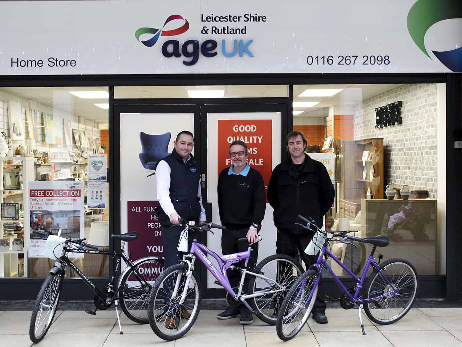 Age UK Bikes Donation from Bakers Waste