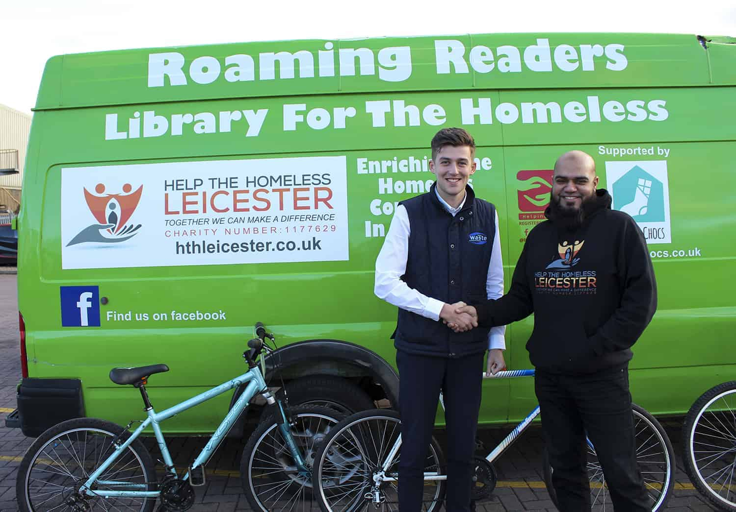Help The Homeless Leicester Bikes Donation from Bakers Waste