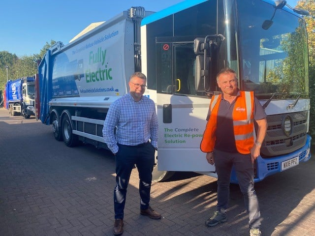 Bakers Waste Trial 1st Fully Electric Trade Refuse Vehicle